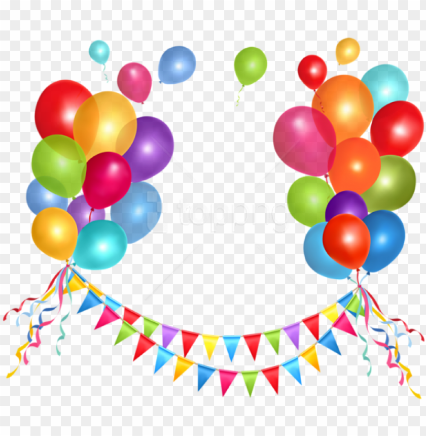 free PNG free png download transparent party streamer and balloonspicture - birthday party balloons PNG image with transparent background PNG images transparent