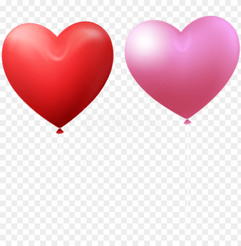 free PNG free png download valentine's day heart balloon red - valentines day heart red and pink PNG image with transparent background PNG images transparent