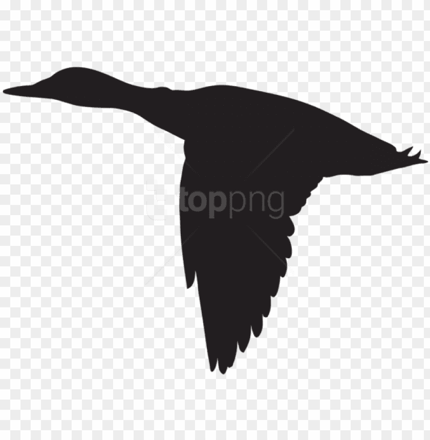 free PNG free png duck flying silhouette png - flying duck silhouette vector PNG image with transparent background PNG images transparent
