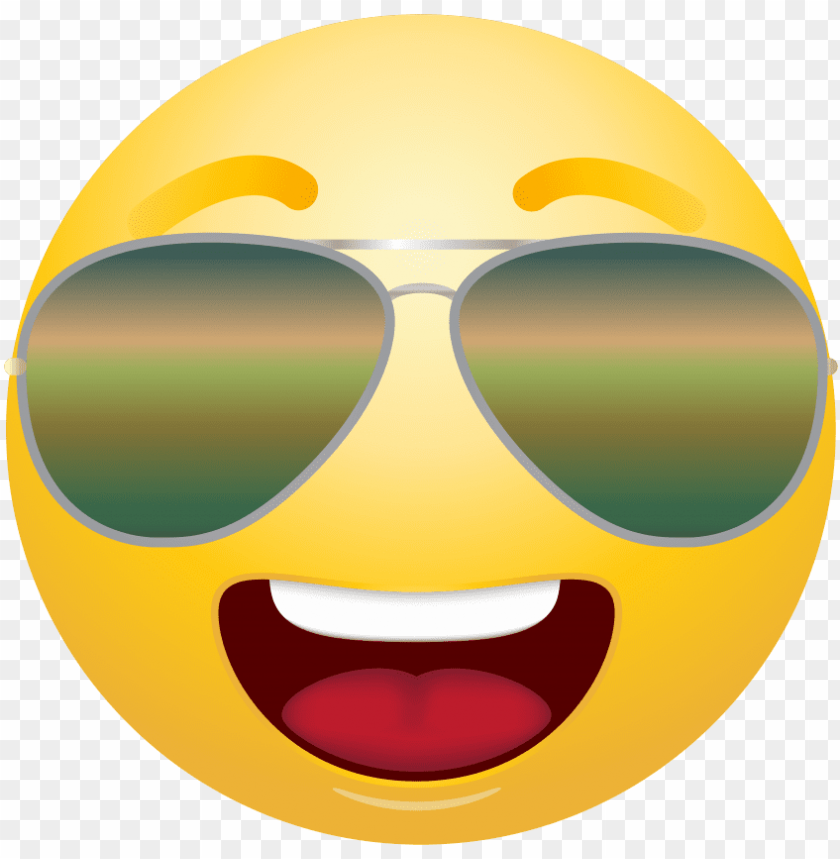free PNG free png emoticon with sunglasses png images transparent - transparent background glasses emoji PNG image with transparent background PNG images transparent