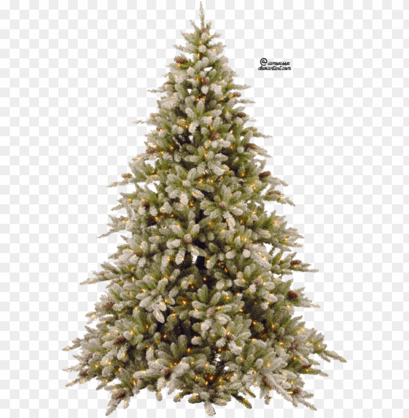 free PNG free png fir-tree png pic png images transparent - 7ft pre lit snowy christmas tree PNG image with transparent background PNG images transparent