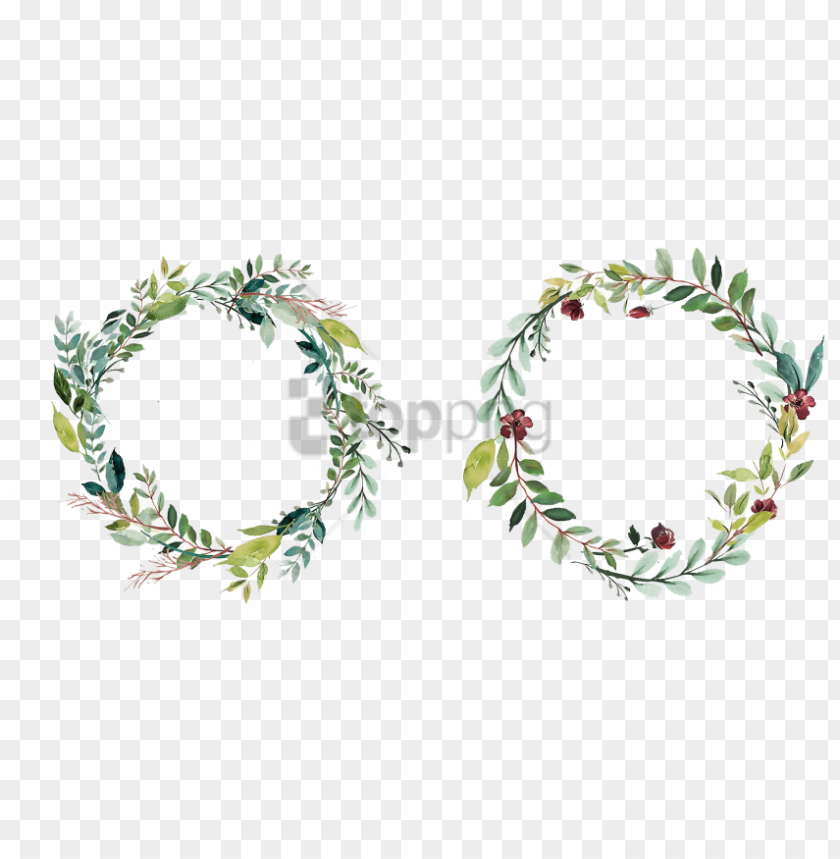 free PNG free png floral wreath png image with transparent background - png watercolor flowers frame PNG image with transparent background PNG images transparent
