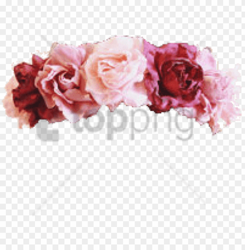 free PNG free png flower crown transparent overlay png image - transparent tumblr flower crow PNG image with transparent background PNG images transparent