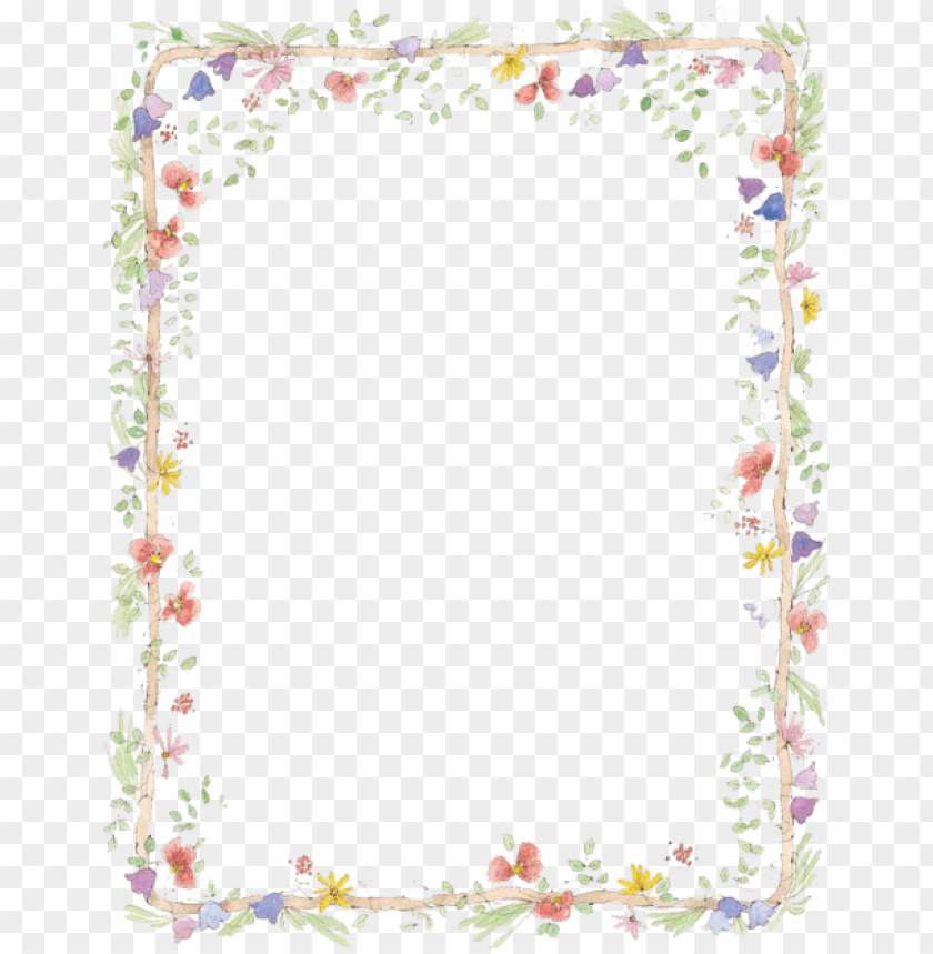 free PNG free png flowers borders download png png images transparent - flowers word document border PNG image with transparent background PNG images transparent