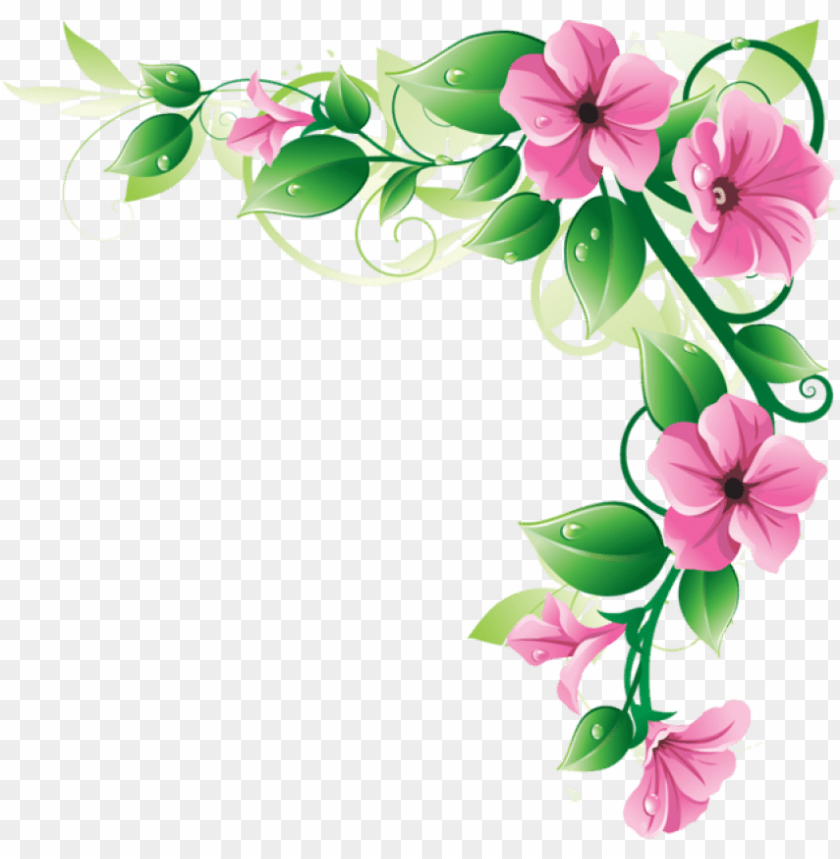 free PNG free png flowers borders png images transparent - flower corner border PNG image with transparent background PNG images transparent