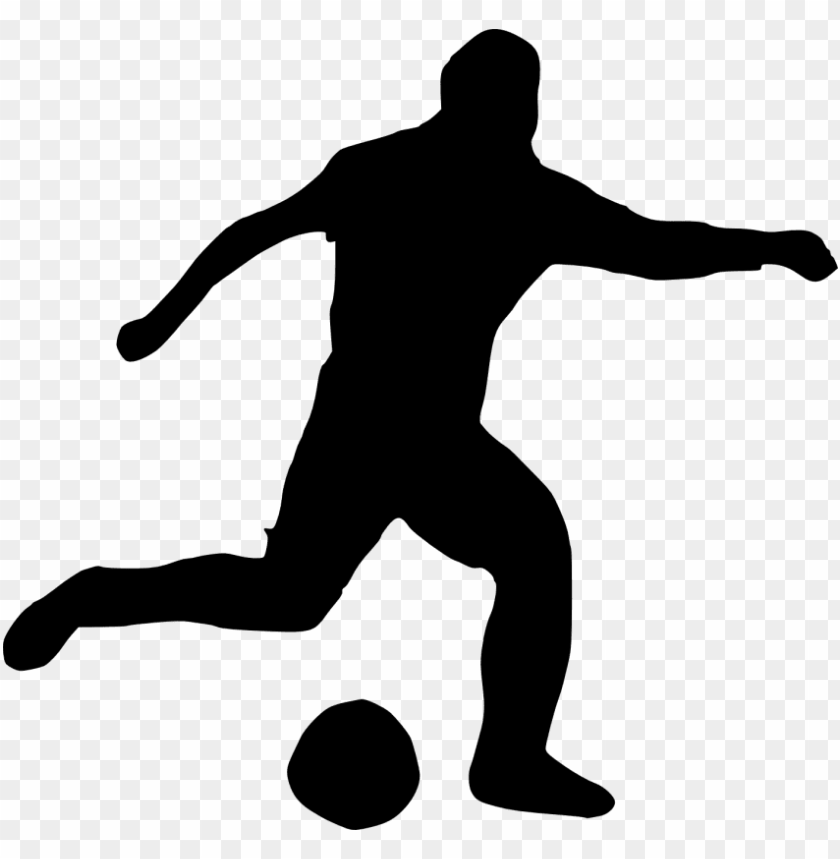 free PNG free png football player silhouette png images transparent - football player transparent free PNG image with transparent background PNG images transparent