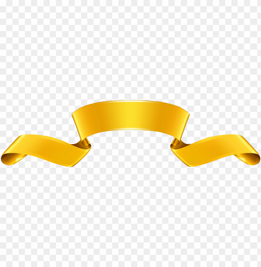 free PNG free png gold banner png images transparent - yellow gold ribbon clip art PNG image with transparent background PNG images transparent