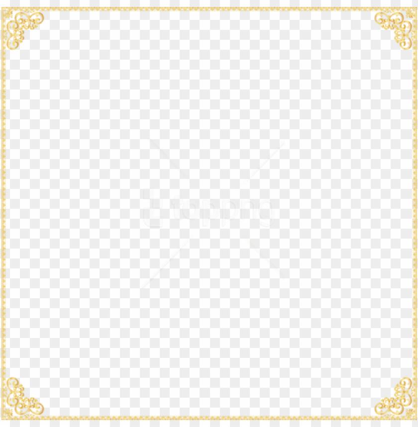 free PNG free png gold border frame png - golden border transparent background PNG image with transparent background PNG images transparent
