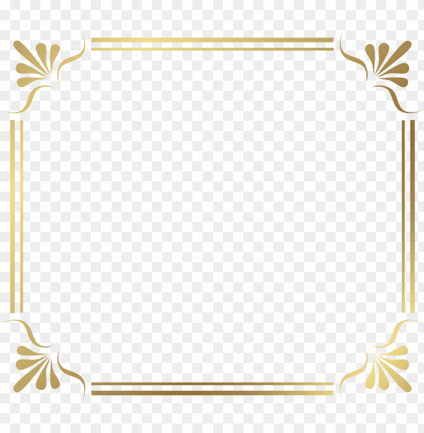 free PNG free png gold border frame png images transparent - gold border free PNG image with transparent background PNG images transparent