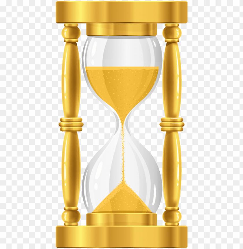 Free Png Gold Sand Clock Png Images Transparent Golden