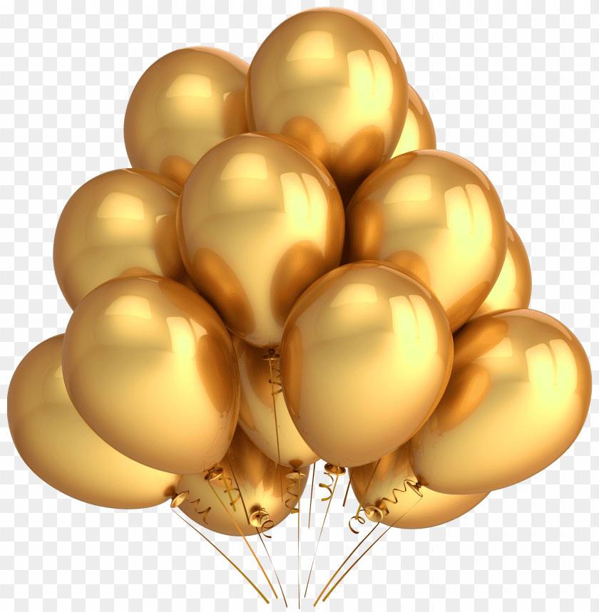 free PNG Download Golden Balloons png images background PNG images transparent