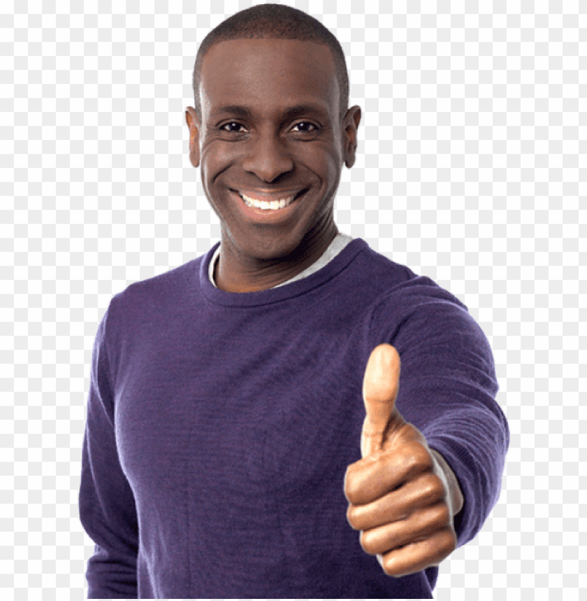 free PNG free png happy black person png images transparent - black man thumbs up PNG image with transparent background PNG images transparent