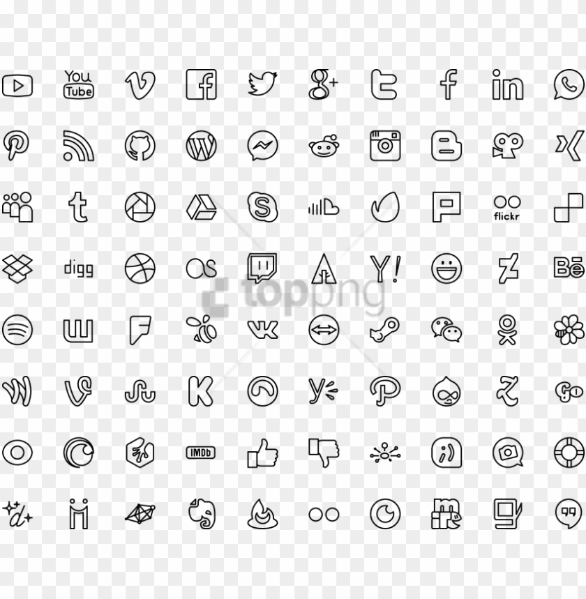 free PNG free png icon social icons - free application flat toolbar icons PNG image with transparent background PNG images transparent