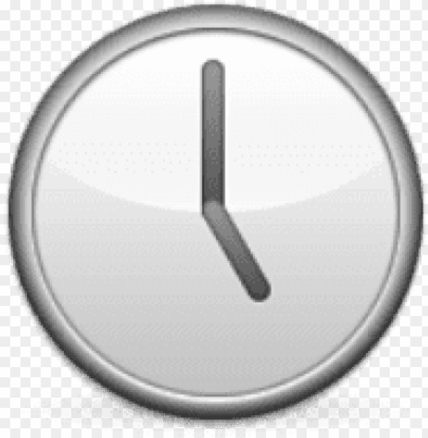 free png ios emoji clock face five oclock png images - horloge emoji PNG image with transparent background@toppng.com