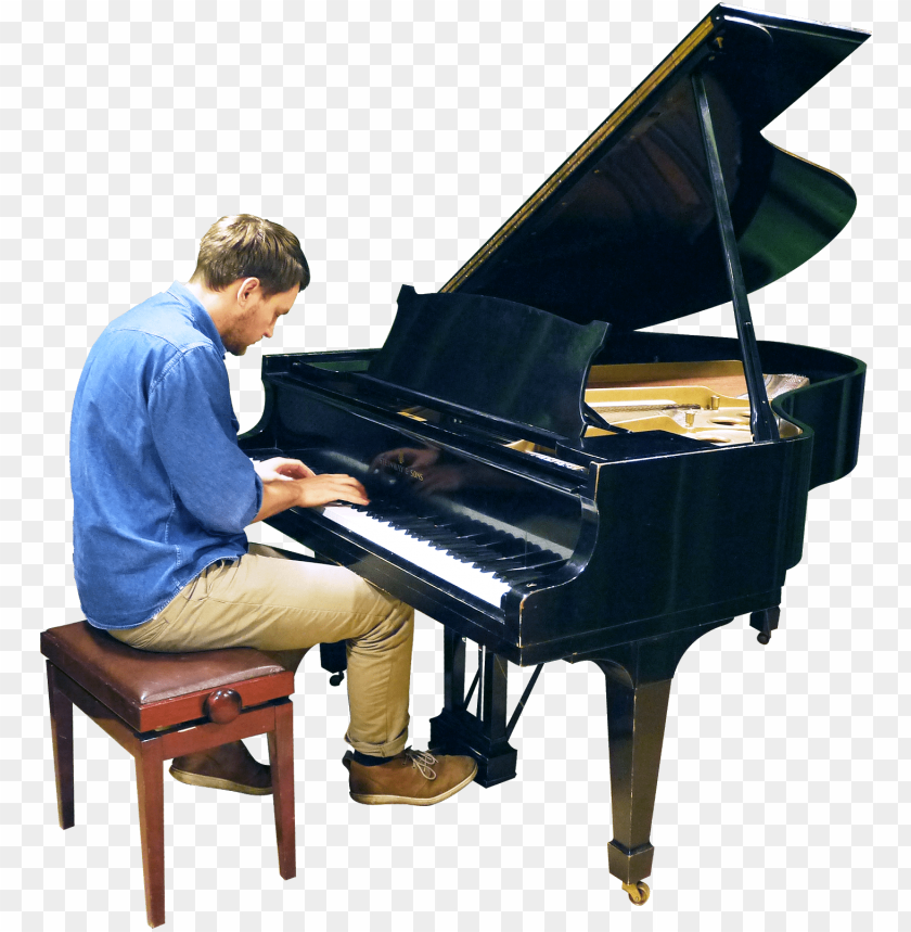 free PNG free png playing grand piano png images transparent - man playing piano PNG image with transparent background PNG images transparent