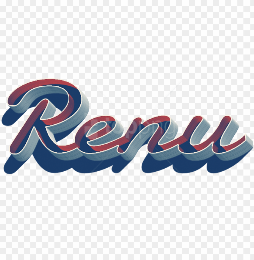 free PNG free png renu missing you name png png images transparent - renu name logo desi PNG image with transparent background PNG images transparent