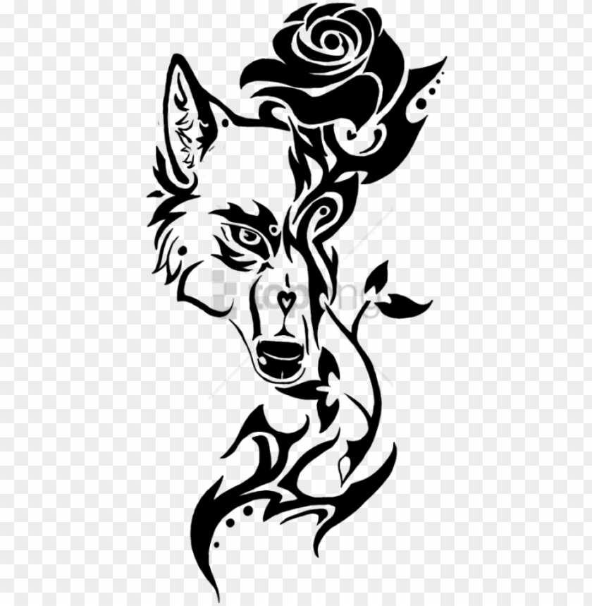 free PNG free png rose tribal design png image with transparent - wolf tribal tattoo drawi PNG image with transparent background PNG images transparent