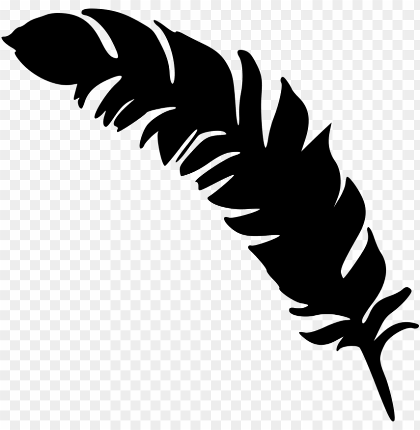 free PNG free png simple feather silhouette png images transparent - feather silhouette PNG image with transparent background PNG images transparent