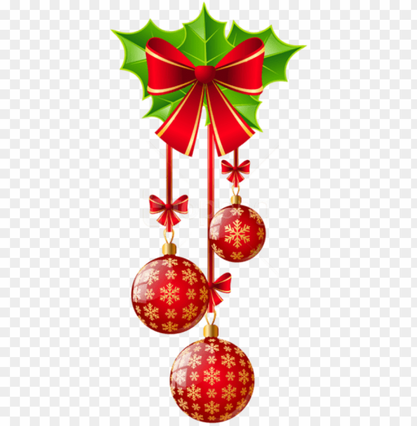 Free Png Transparent Christmas Red Ornaments With Bow