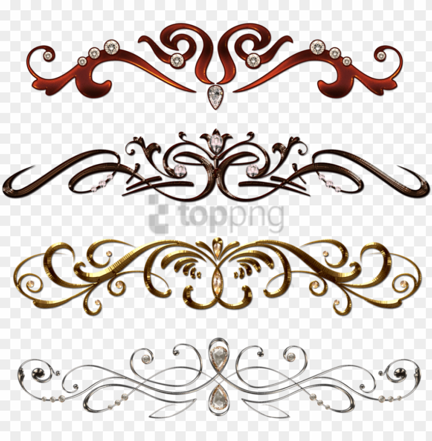 free PNG free png vintage border pattern png image with transparent - vintage design border transparent PNG image with transparent background PNG images transparent