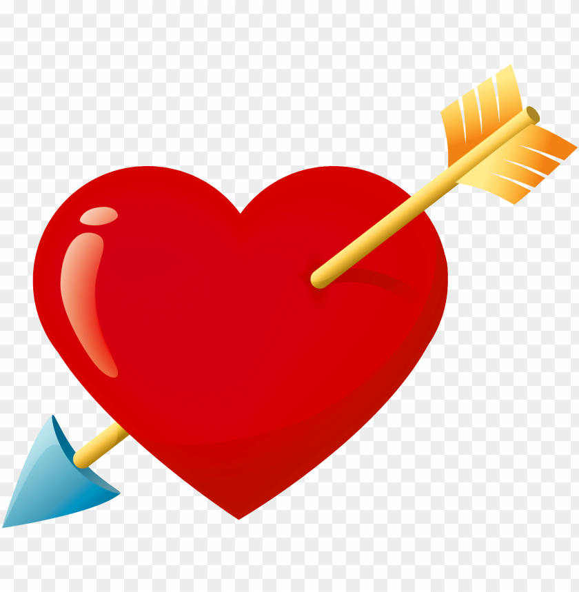 red heart arrow down png PNG image with transparent background@toppng.com