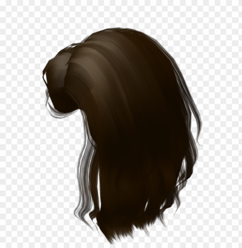 Brown Brunette Hair Extension Roblox Free Roblox Brown Hair Png Image With Transparent Background Toppng