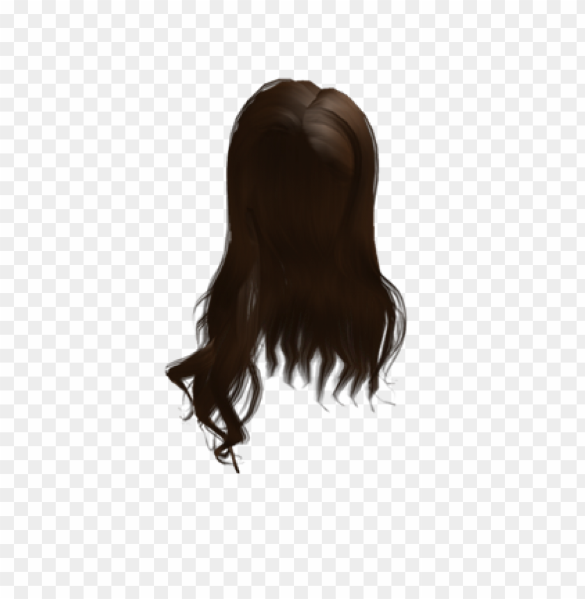 2 Roblox Hair Girl Free Roblox Hair Brown Png Image With Transparent Background Toppng