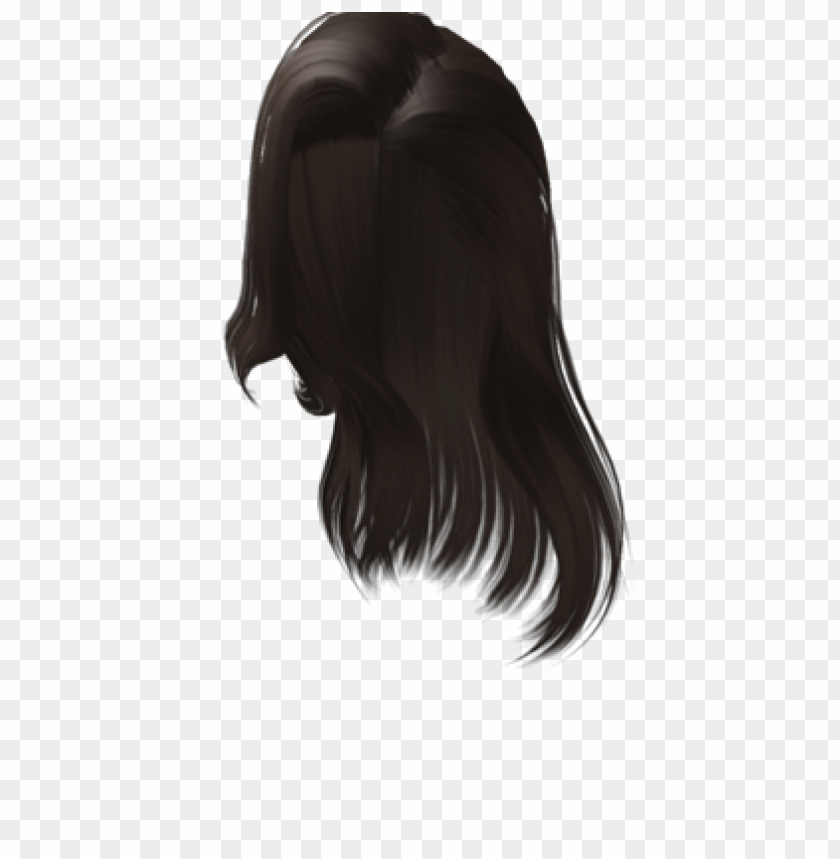 Free Roblox Black Hair Png Image With Transparent Background Toppng