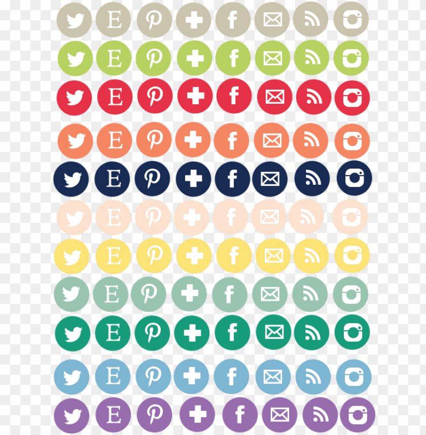 free PNG free social media icon sets - social media icons colorful PNG image with transparent background PNG images transparent