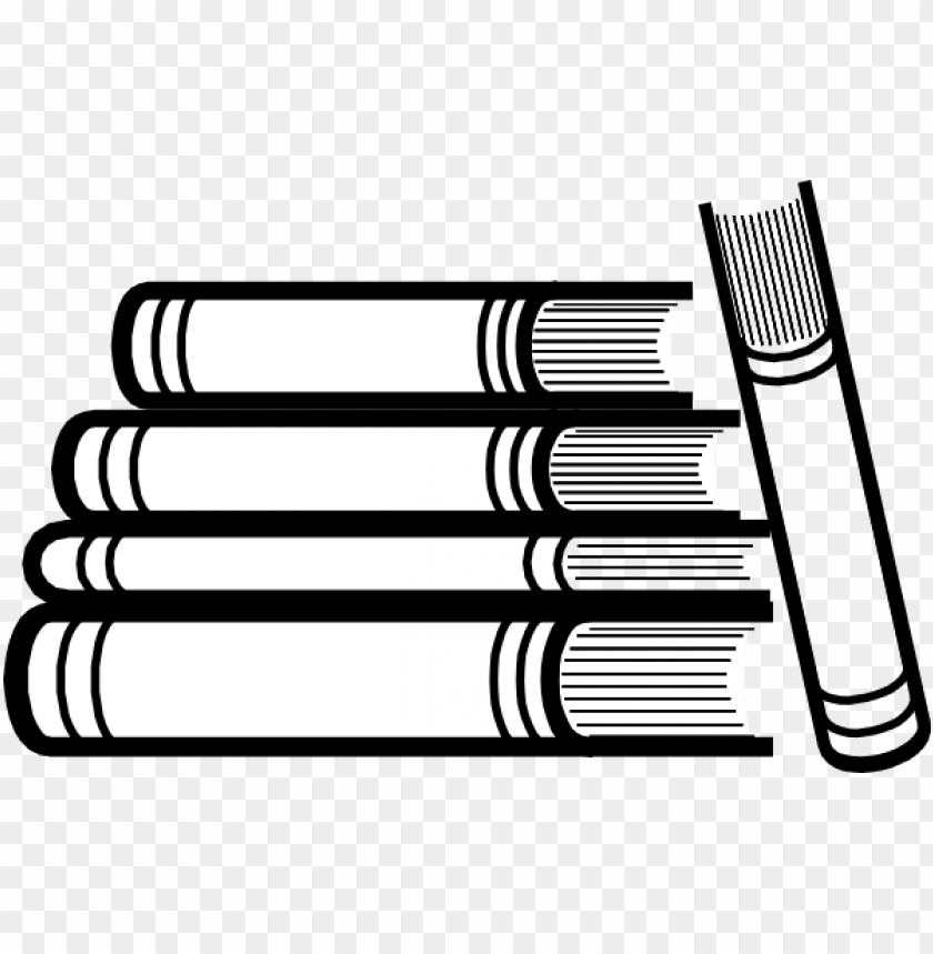 free PNG free stack of books png - book stack clipart black and white PNG image with transparent background PNG images transparent