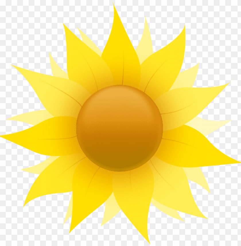 free PNG free sunflower clipart public domain flower clip art - small cartoon yellow flower PNG image with transparent background PNG images transparent