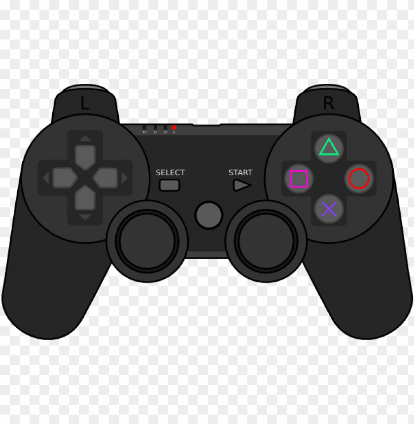 Free Vector Playstation Gamepad Clip Art Cartoon Ps3 Controller Png Image With Transparent Background Toppng