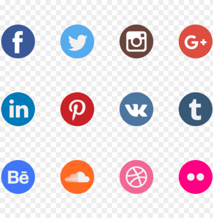 free PNG free watercolour social media icons  - vector transparent background social media icons png - Free PNG Images PNG images transparent