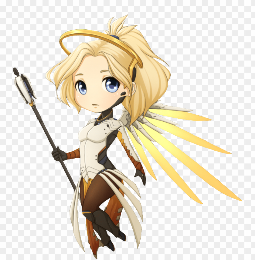 free PNG freetoedit overwatch mercy cute art pictures png freetoedit - mercy fanart chibi PNG image with transparent background PNG images transparent
