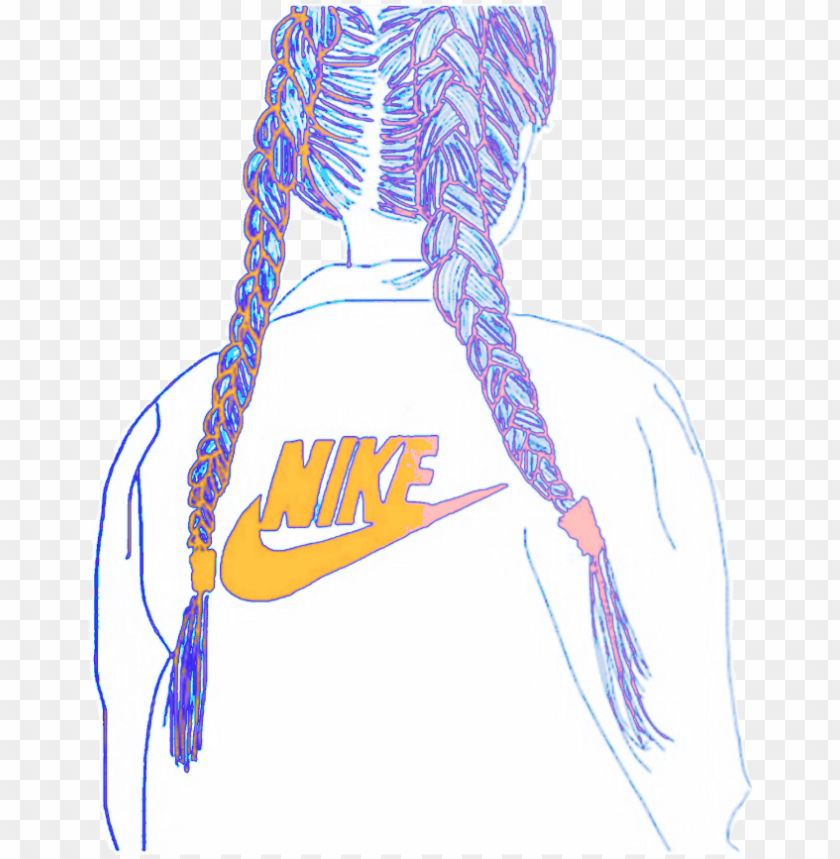 free PNG #freetoedit #remix #nike #logo #girl #drawing #colorful - nike logo girl PNG image with transparent background PNG images transparent