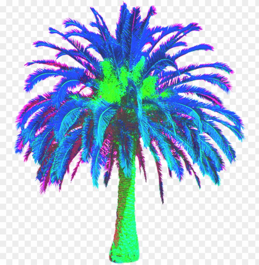 Freetoedit Vaporwave Vaporwavecrew Webpunk Aesthetic Date Palm Tree Png Image With Transparent Background Toppng