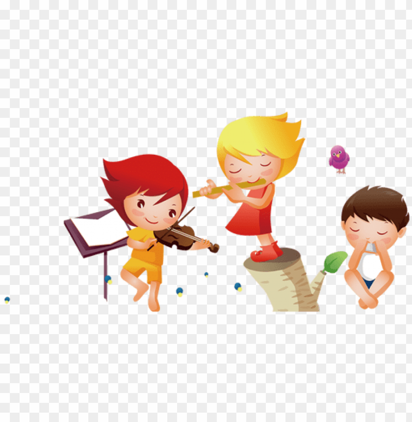 free PNG freeuse girl musical instrument clip art cartoon - kids music PNG image with transparent background PNG images transparent