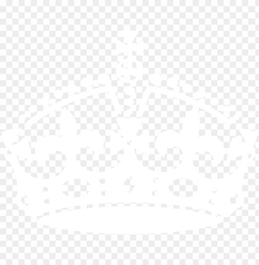 free PNG freeuse library clip art at clker com vector online - keep calm crown white PNG image with transparent background PNG images transparent