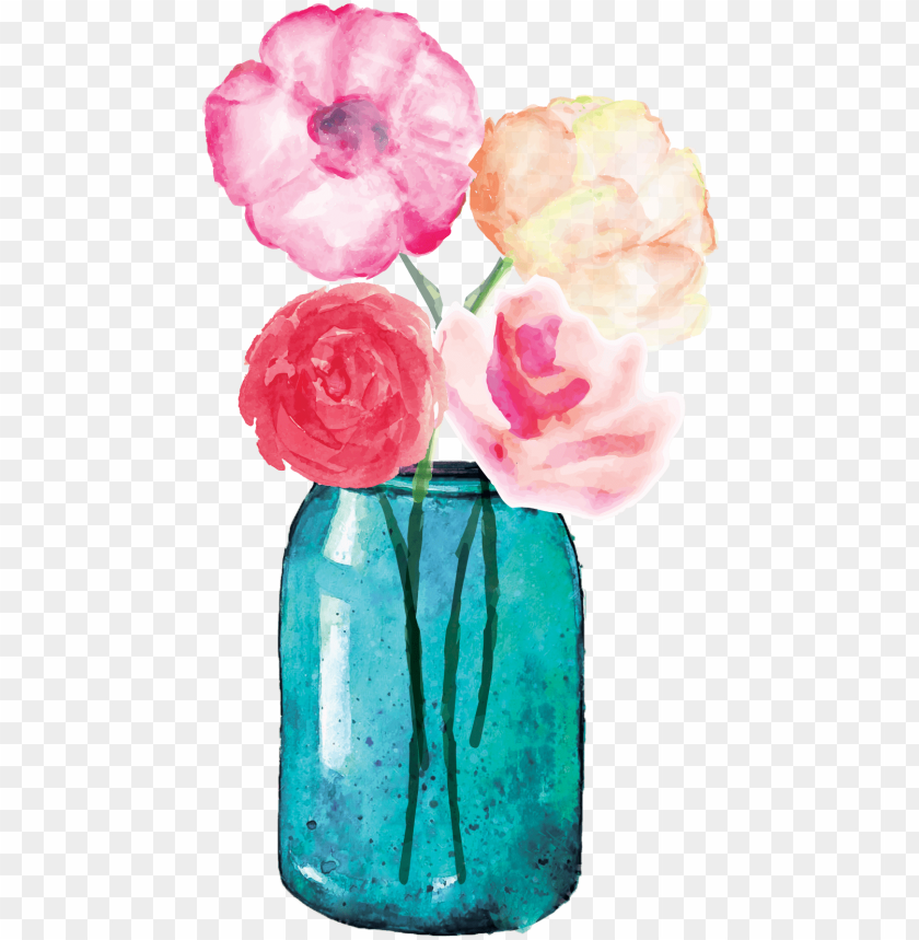 free PNG freeuse stock lauren baxter flowers in a mason jar - flower in jar PNG image with transparent background PNG images transparent