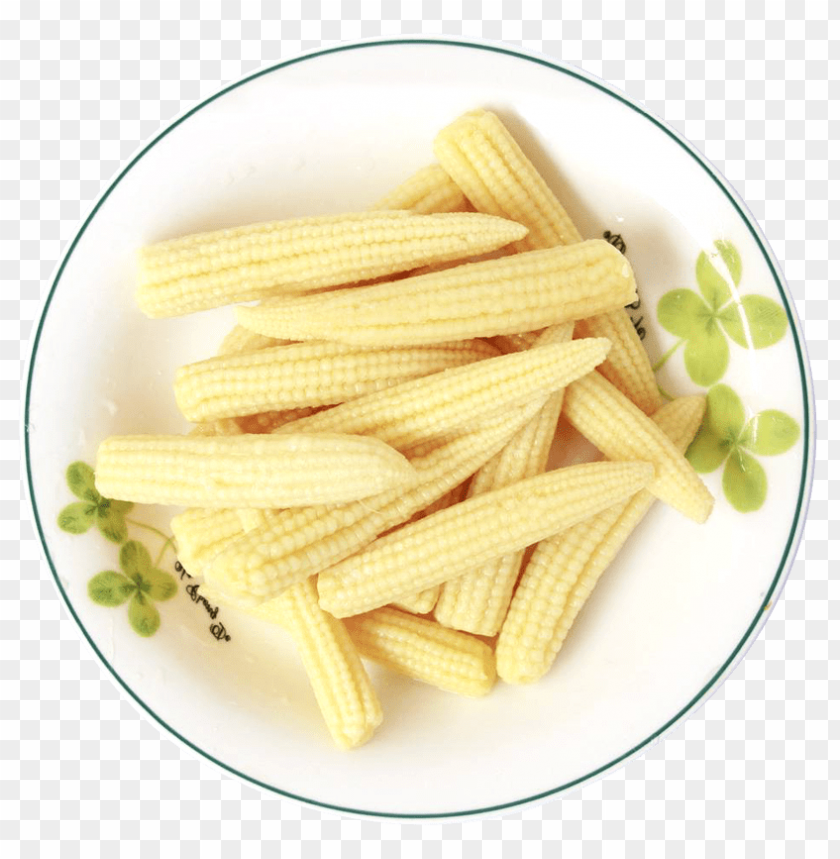 free PNG Download fresh baby corns served in a white plate png images background PNG images transparent