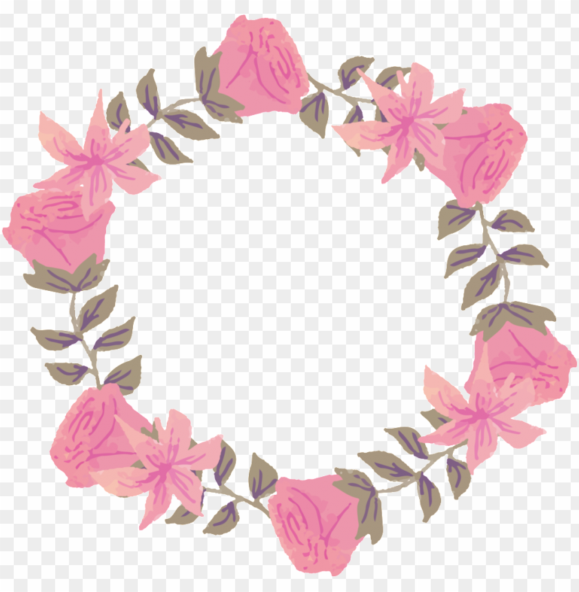free PNG fresh deep pink watercolor hand painted garland decorative - desi PNG image with transparent background PNG images transparent