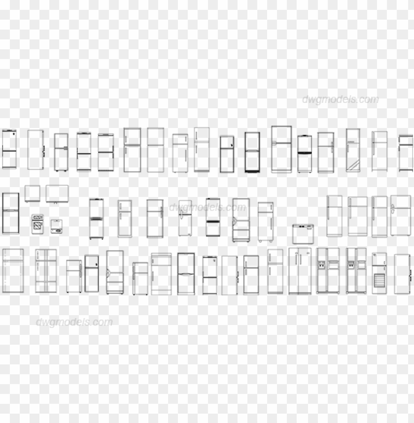 Fridge Dwg Cad Blocks Free Download Refrigerator Dw Png Image