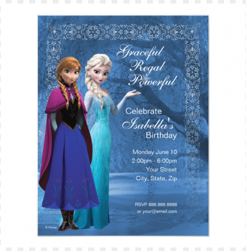 Astounding Frozen Anna And Elsa Snowflake Birthday Invitation Disney Frozen Personalised Birthday Cards Paralily Jamesorg