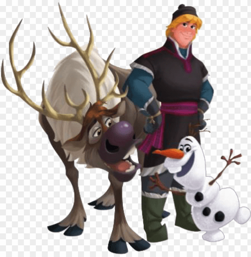 frozen clip art of anna, elsa, kristoff, olaf and sven - frozen kristoff y olaf PNG image with transparent background@toppng.com
