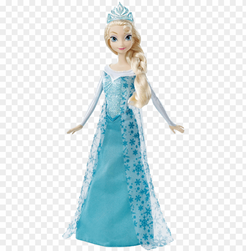 free PNG frozen elsa doll transparent background toy png images - mattel disney frozen sparkle princess elsa doll PNG image with transparent background PNG images transparent