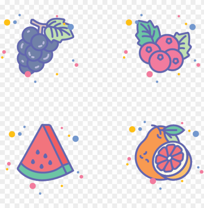 free PNG fruits icon set for jellycons outline line set app - icon png - Free PNG Images PNG images transparent