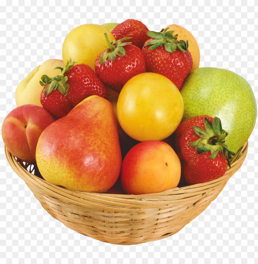 Fruits In Wicker Bowl Png Clipart Fruit Bowl Png Image With Transparent Background Toppng