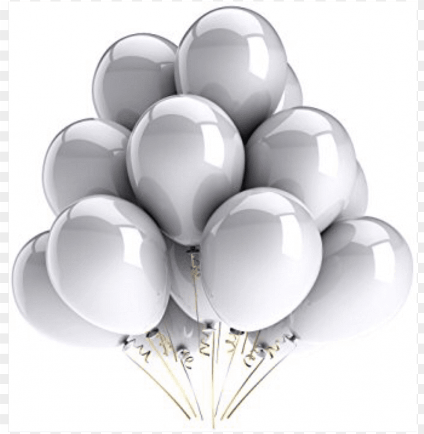 free PNG ftestickers silver latex balloons freetoedit - white happy birthday balloons PNG image with transparent background PNG images transparent