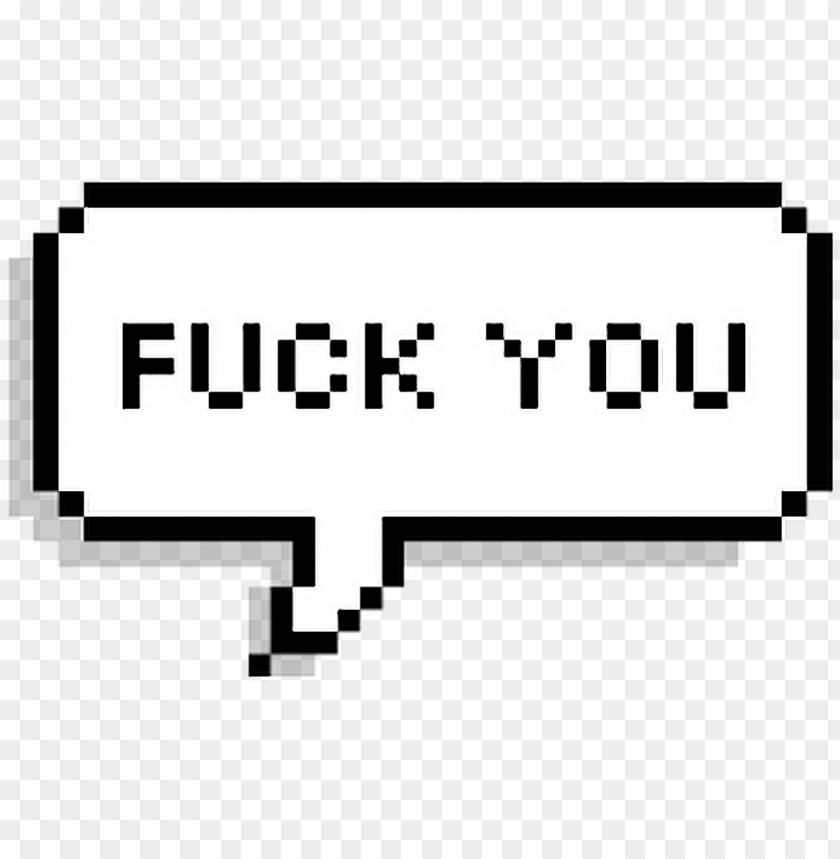 free PNG #fuckyou #fuck #you #overlay #text #speech #icon #pixel - 8 bit speech bubble PNG image with transparent background PNG images transparent
