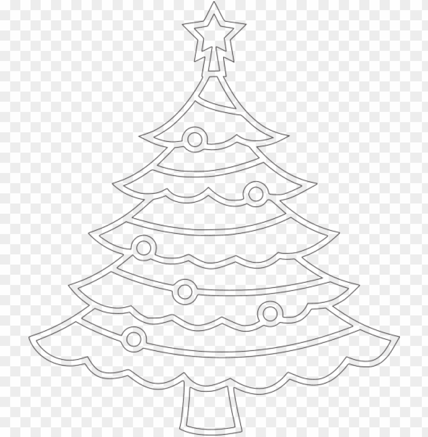 Gambar Pohon Natal Hitam Putih Png Image With Transparent Background Toppng